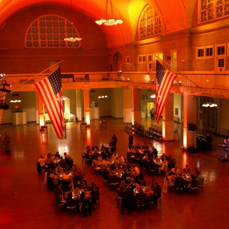 Exclusive Dinner at the World-famous Ellis Island. Enjoy an elegant dinner in one of the most famous venues in the world while looking back at the incredible Manhattan Skyline. A truly magical evening!