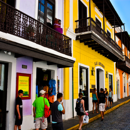 Old San Juan:  Explore the best of the 2 worlds and immerse yourself in 500 yrs of history, cobblestone streets, plazas, cathedrals and fortresses.