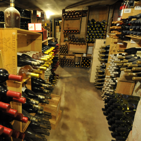 One of the world's largest wine cellars storing bottles from over 400 vintners.