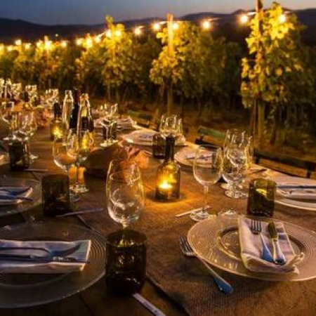 Dinner under the stars in one of our beautiful vineyards
