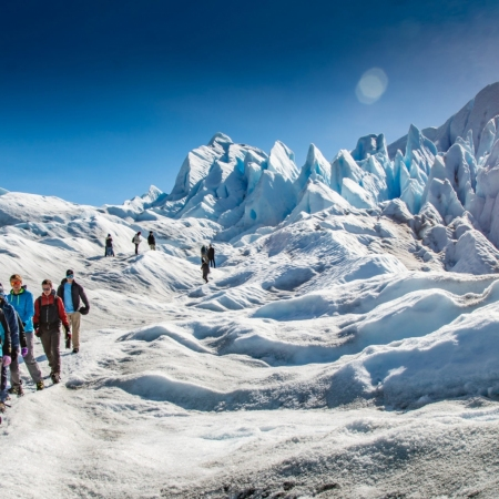 Trekking on the largest ice fields in the world at Los Glaciares National Park.