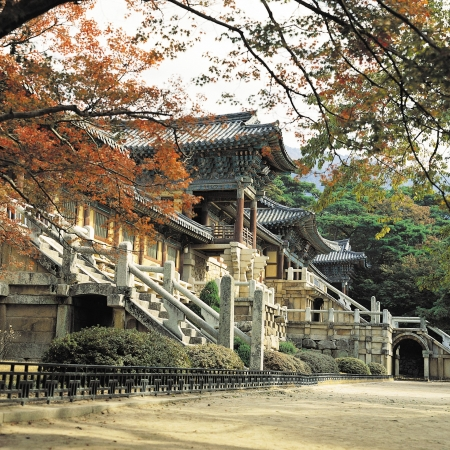 Visit Bulguksa Temple (UNESCO World Heritage), built in 528 during the Silla Kingdom in Gyeongju.