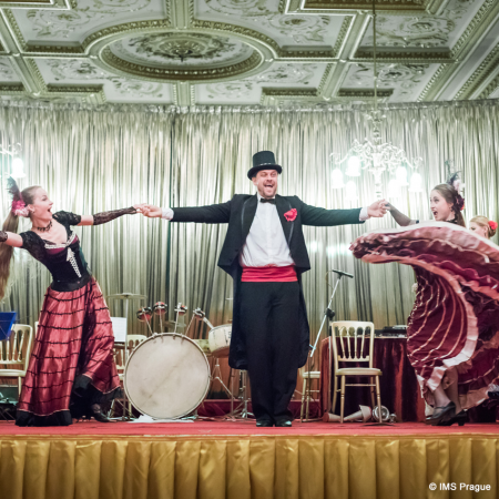 Themed evenings, e.g. Twenties party with lots of props for the guests and sweeping entertainment