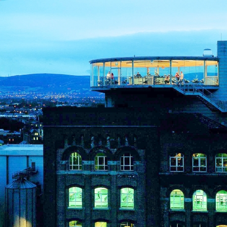 Private dinner in 360 Panoramic Gravity Bar at Guinness Storehouse