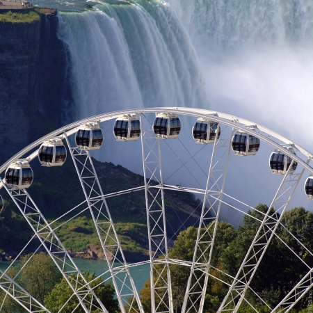 Niagara SkyWheel, breathtaking views of the falls all day and night soaring 175 feet above the Falls