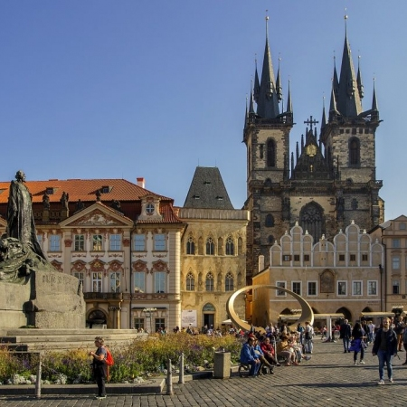 Old Town Walking Tour including the Jewish Quarter and a visit to the Astronomical Clock.