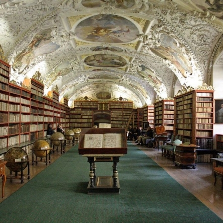 Prague Castle Tour with a backstage visit to Strahov Library.