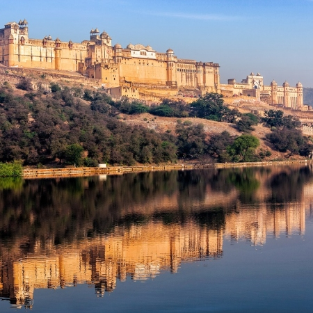 Jaipur - Beautiful palaces, forts and colourful bazaars speak of the pink city's glorious regal past. Modernity walks hand-in-hand with history in Jaipur. This largest city and capital of the state of Rajasthan, founded by Maharaja Sawai Jai Singh, is famous for its magnanimous hospitality.
