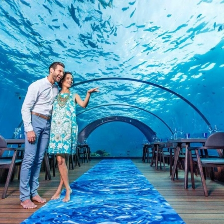 Dine in a luxury underwater restaurant