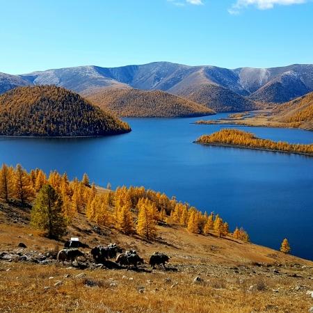 Eight lake in Khangai nuruu