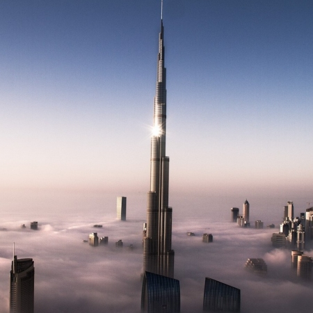 Enjoy private dining on the 122nd floor of the tallest building in the world.