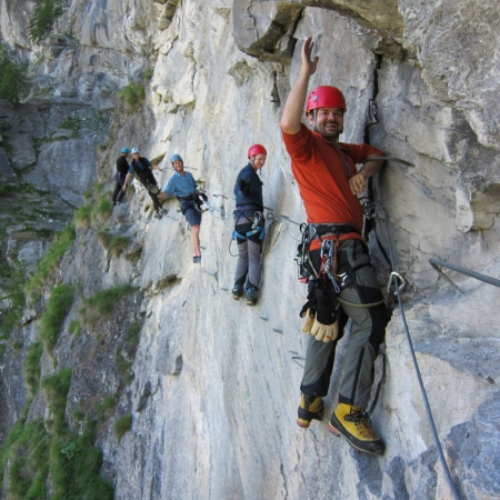 Experience summer with countless outdoor opportunities, such as a Via Ferrata