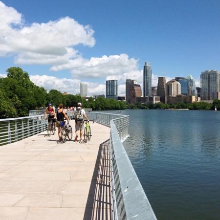 Brand new 1.3 mile boardwalk for walking, biking and runs along Lady Bird Lake.