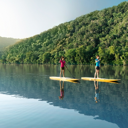 Test your upper body strength and paddleboard in Lady Bird Lake.