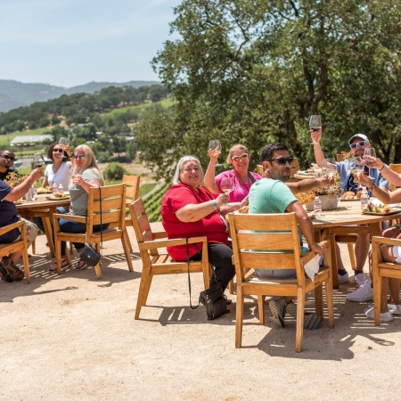 Lunch at a beautiful winery