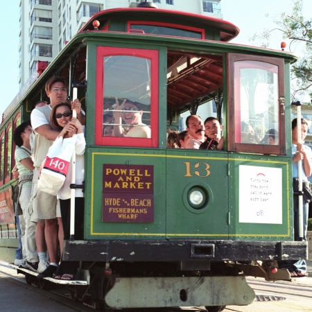 Ride historic cable cars around downtown.