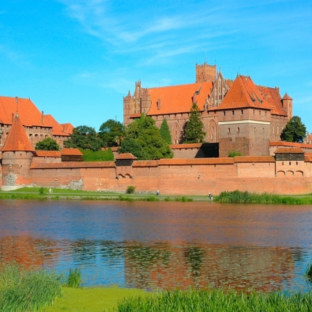 Visit Malbork-  the biggest medieval castle in Central Europe – magnificent residence of Teutonic Knights Order.
