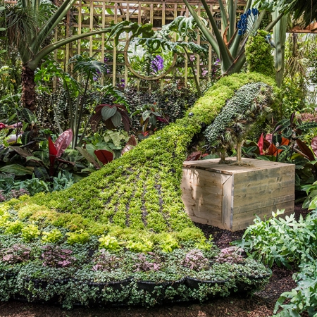 Any time of year the Atlanta Botanical Gardens offers a wide range of rare and colorful beauty. Coveted art installations, the orchid house, and educational opportunities abound. Make a spring salad or an herb infused cocoa in their outside kitchen, complete with edible garden.