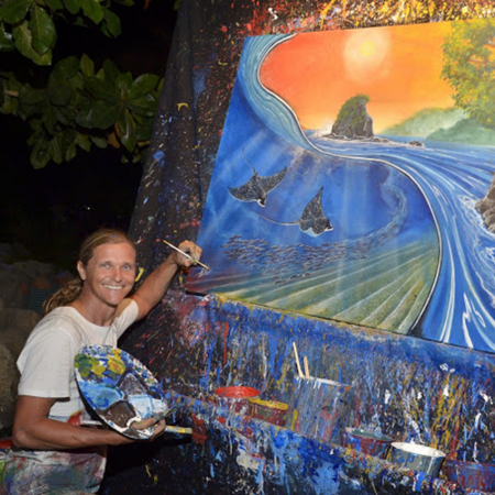 The Color of the Music - Live Painting Carlos Hiller has a special ability in performing and creating amazing paintings