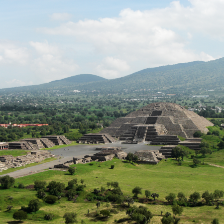 Teotihuacan the nearest archeological zone of Mexico City, just 45 minutes from the city