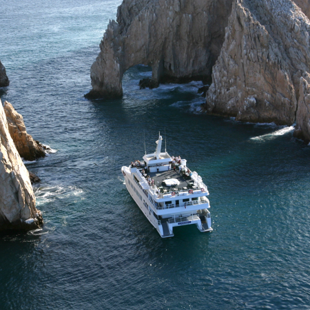 The dramatic encounter between 2 seas, the Sea of Cortez & the Pacific Ocean  spot of the iconic Cabo San Lucas Arch