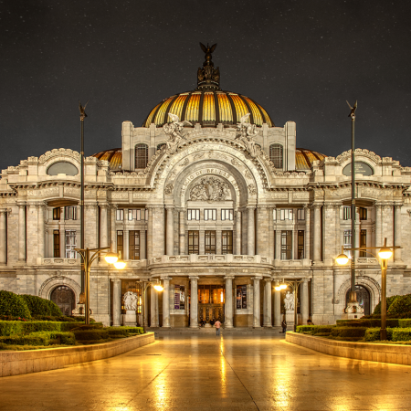 Palacio de Bellas Artes theater (Palace of Fine Arts) is one of the most prominent cultural centers in Mexico City