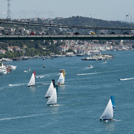 Sailing regatta along the Bosphorus