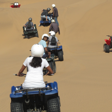 Ride a quad bike through Namibia's boundless expanse of shifting sand dunes