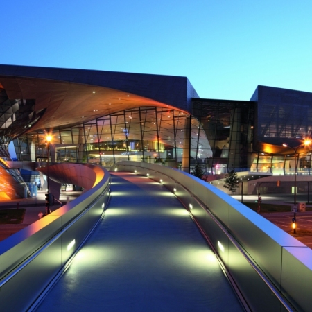 Visit the BMW World in Munich, which can be used as a location for up to 1000 guests.