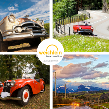 Discover the alpine region in one of the beautiful oldtimer German vehicles and make a stop in one of the beautiful lakes located in Bavaria (available for groups of up to 100 guests)