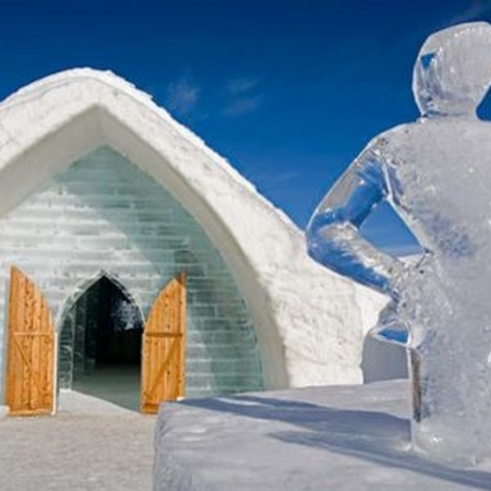 You won't want to miss North America's one and only Ice Hotel: Made entirely of snow and ice, this architectural marvel is a wonder to behold. Explore the beautiful Great Hall, Chapel, ice slide, exhibitions and Ice Bar. You can spend the night in one of the themed suites or try a delicious cocktail served in a glass made of ice.