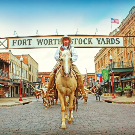Get a pair of custom cowboy boots made in the Fort Worth Stockyards.